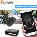 Универсальный автомобильный брелок Eunavi без ключа  кнопка запуска  светодиодный брелок  центральный комплект  дверной замок с пультом диста...
