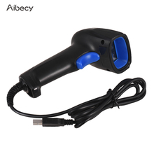 Ручной сканер штрих кода Aibecy, автоматический USB проводной 1D сканер штрих кода, считыватель для мобильного платежа, сканер экрана компьютера