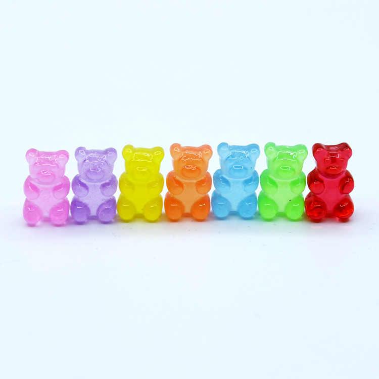 Baru 10Pcs Simulasi Beruang Permen Polimer Lendir Kotak Mainan untuk Anak-anak Pesona Pemodelan Tanah Liat DIY Kit Aksesoris Anak-anak Plasticin hadiah