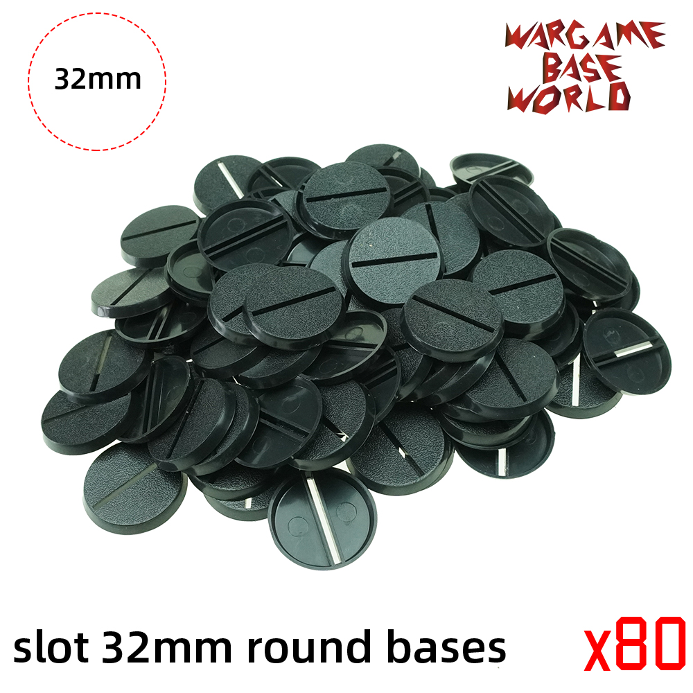 32mm Round slot bases for gaming miniatures and table games