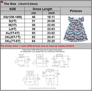 Image 4 - فساتين للفتيات الصغيرات لربيع وصيف 2020 بتصميم جديد فستان بنمط رأس ميكي ملون للأطفال ملابس رفرفة ميلك سيلك
