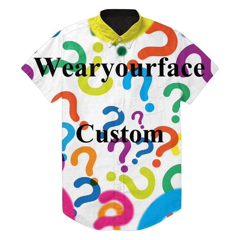 Summer Custom Hawaiian Casual Button Up Shirts Street Style Hip Hop 3D Print Short Sleeve Brand Clothing Tops For Women Men