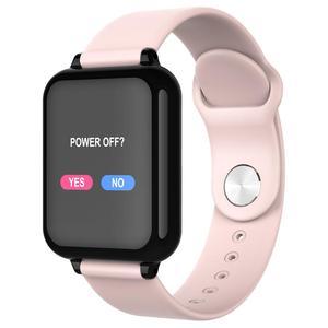 Image 1 - 여자 스마트 워치 컬러 스크린 IP67 아이폰에 대 한 방수 Smartwatch 심장 박동 모니터 혈압 기능 스포츠 시계