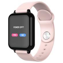 女性のスマートウォッチカラー画面IP67 iphone用防水スマートウォッチ心拍数モニター血圧機能スポーツ腕時計