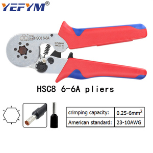 Image 3 - Tubular terminal crimping tools mini electrical pliers HSC8 10SA/6 4 0.25 10mm2 23 7AWG 6 6A 0.25 6mm2 high precision clamp set