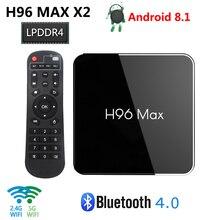H96 MAX X2 Android 8.1 TV Box DDR4 RAM 4GB ROM 64GB Amlogic S905X2 Quad Core Smart Box 2.4G 5G WiFi Bluetooth 4K HD Đa Phương Tiện