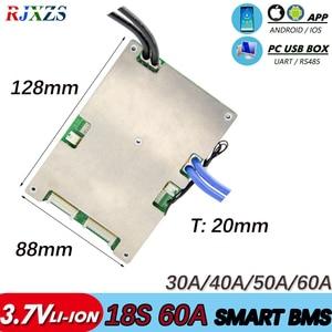 Image 1 - BMS 18S 30A/40A/50A/60A actif bms nouveau Li ion intelligent bms pcm avec android Bluetooth app UART bms logiciel wi (APP) moniteur