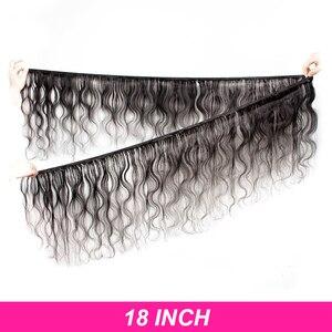 Image 4 - ブラジル人毛織り実体波バンドル 8 に 30 40 インチエクステンション非レミー自然なショートロングヘア延長 1 3 4 個