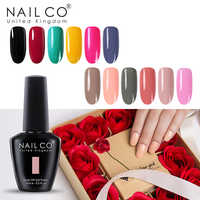 NAILCO 20pcs Vernis Polonês Gel Definir Tudo Para Manicure Semi Permanente LED UV Gel Verniz Soak Off Nail Art top Coat Gel Unha Polonês