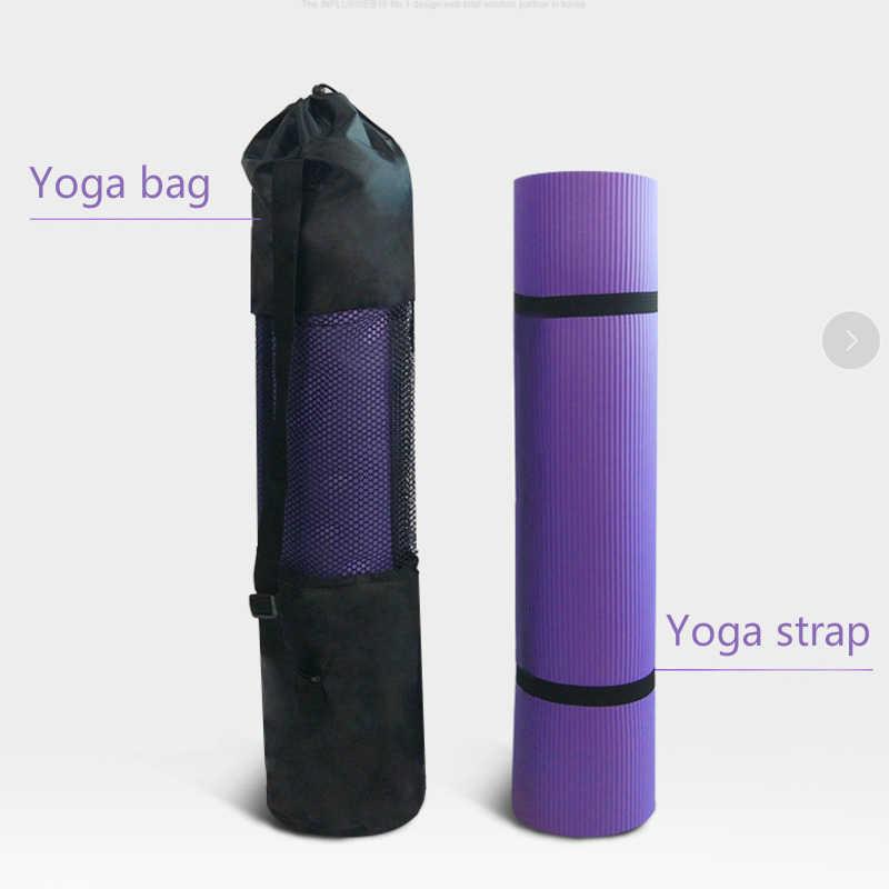 185*90cm ampliado esteira de yoga 15mm espessamento nbr esteira de fitness para iniciantes yoga masculino ginásio almofada antiderrapante musculação dança esteira