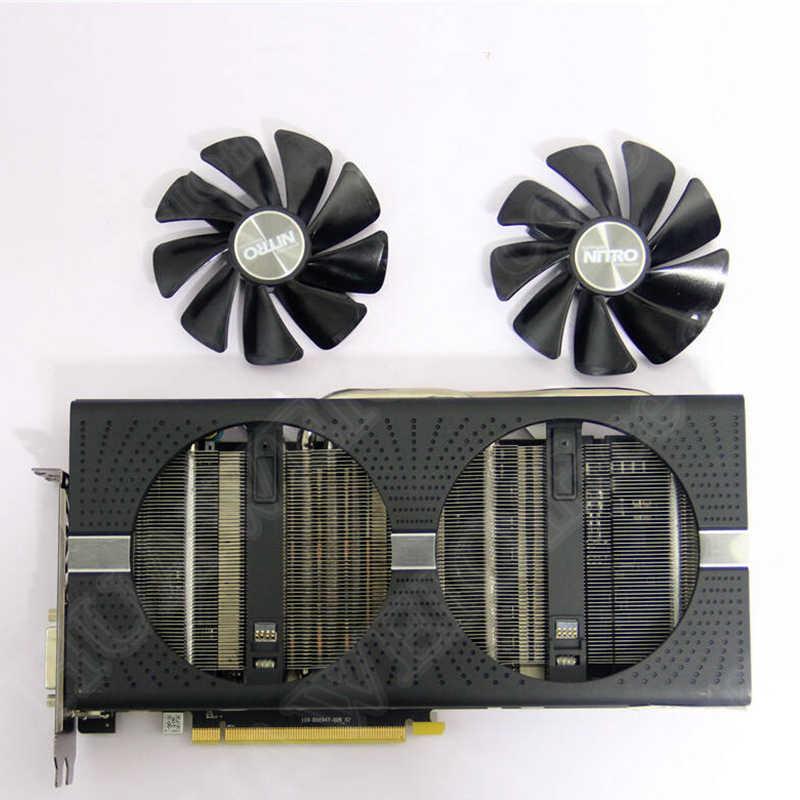 الياقوت AMD راديون RX580 بطاقة جرافيكس مروحة التبريد نيترو +/نبض RX470 RX570 RX480 RX580 RX590 4G/8G بطاقة الفيديو برودة المشجعين