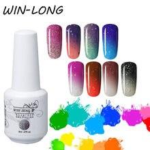 Win длинные Термальность гель для изменения цвета лак ногтей