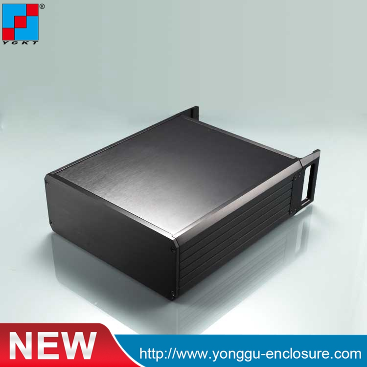 2U aluminum chassis 64holes Power controller aluminum chassis cabinet YGH-003-3B 337*89-250mm