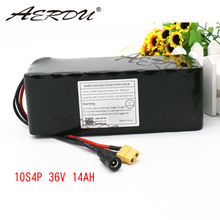 AERDU 36V 10S4P 14Ah 500w 3500mah 18650 with 25A Balance BMS 42V lithium battery pack ebike electric car bicycle motor scooter