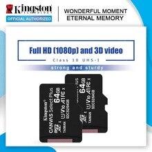 מקורי קינגסטון מיקרו SD כרטיס זיכרון כרטיס 128GB 64GB 32GB 16GB Class10 TF כרטיס MicroSDHC/SDXC UHS 1 8GB class 4 MicroSD