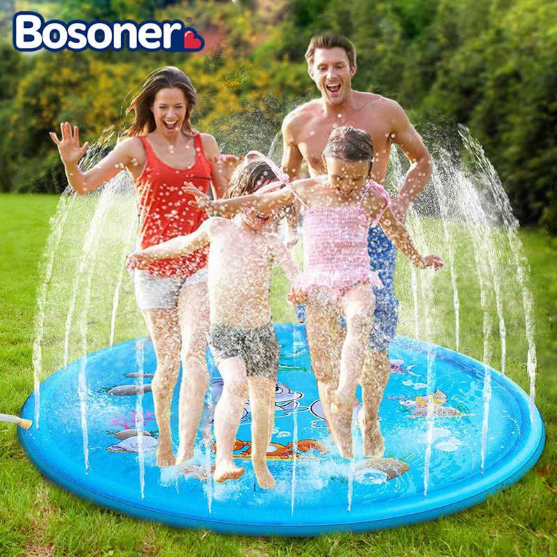 tapis de glisse a eau gonflable pour le jardin 170 cm jeu pour les enfants glisser sur la pelouse pendant l ete sur ce coussin livraison rapide