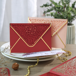 Image 5 - 15pcs/lot Luxury Hot Stamping Envelopes Hollow Invitation Envelopes for Party, Wedding, Business, Opening Activity 175mm X 125mm