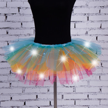 Women's Girl LED Light Up Tulle Tutu Dancing Skirt 2019 New Fashion 8 colors Party Night Skirts Halloween Costumes Skirts z0905 2