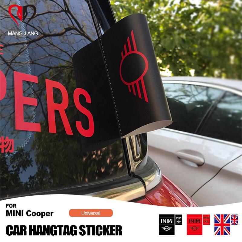 Auto mostrar porta tronco decoração tag hangtag etiqueta para mini cooper r55 r56 r60 f54 f56 f60 clubman countryman acessórios do carro