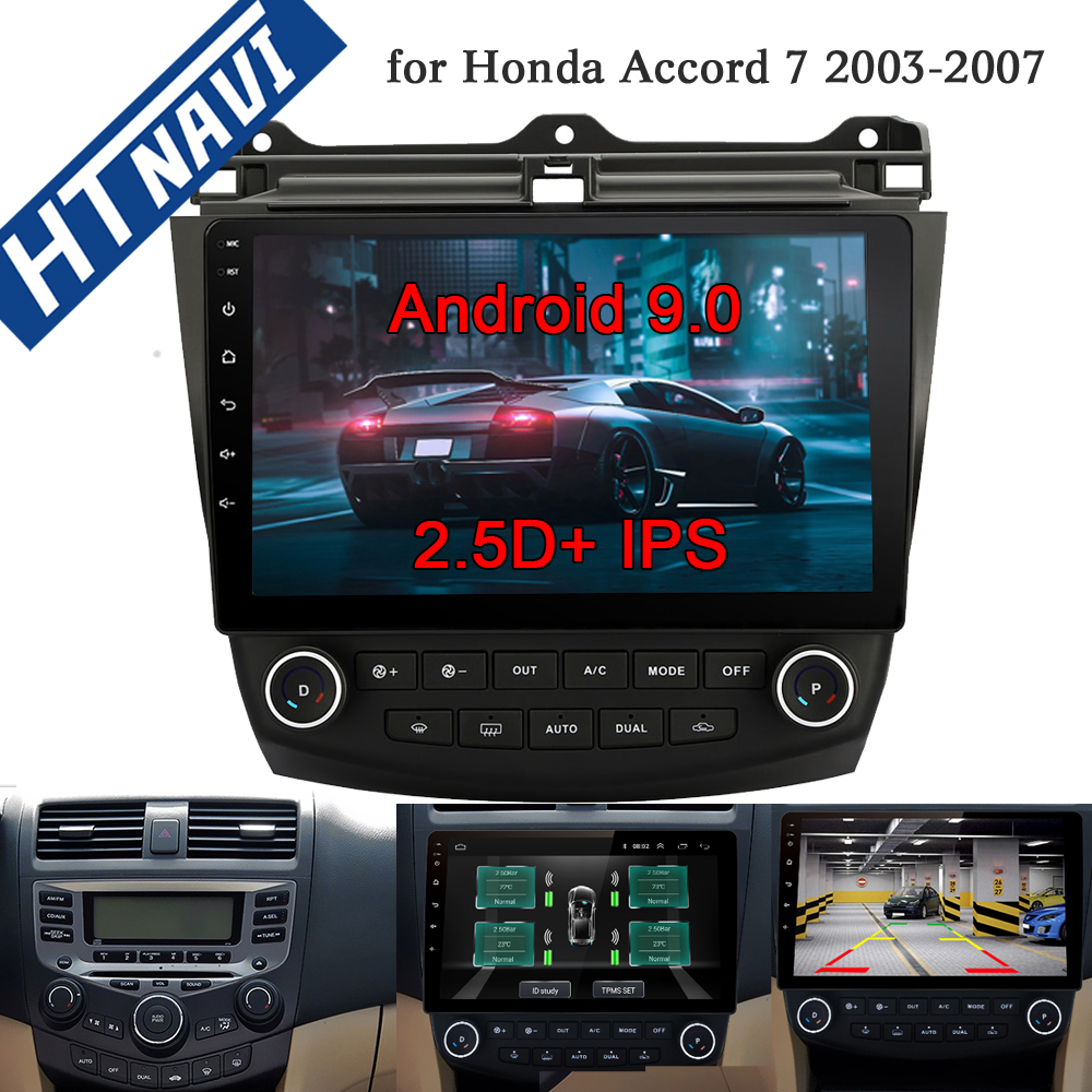 2.5D IPS MirrorLink Android 9.0 Car Multimedia Player Bluetooth Navigation Auto Radio 2 Din <font><b>Stereo</b></font> DVD For <font><b>Honda</b></font> <font><b>Accord</b></font> 7 <font><b>2003</b></font> image