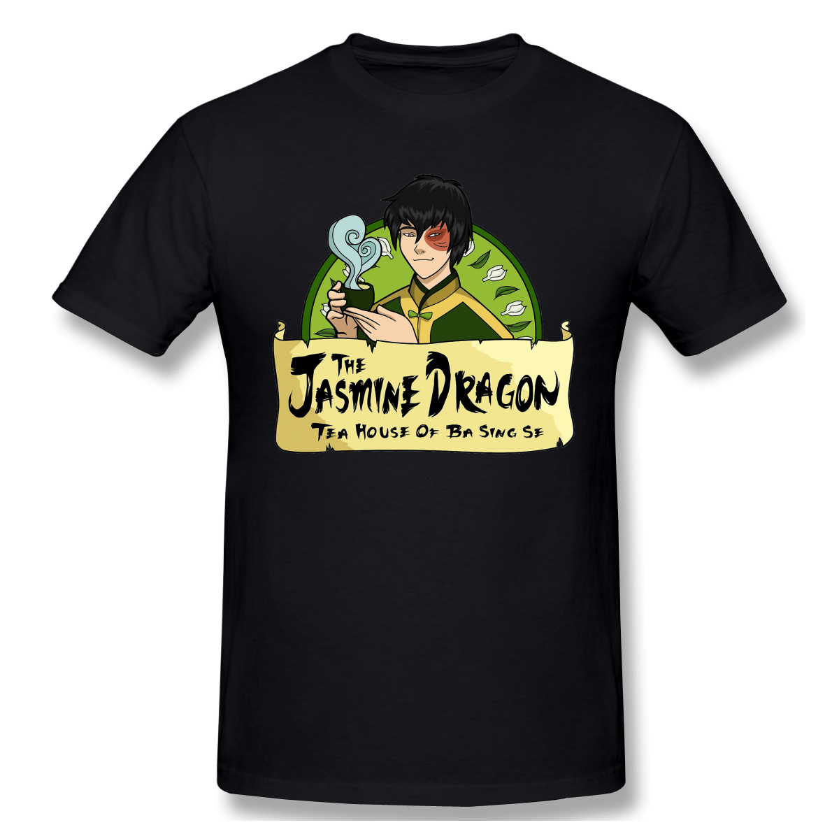 Avatar <font><b>The</b></font> <font><b>Last</b></font> Airbender Myth adventure Tees <font><b>The</b></font> Jasmine Dragon Tea House With Prince Zuko T <font><b>Shirts</b></font> Round Collar Clothing image