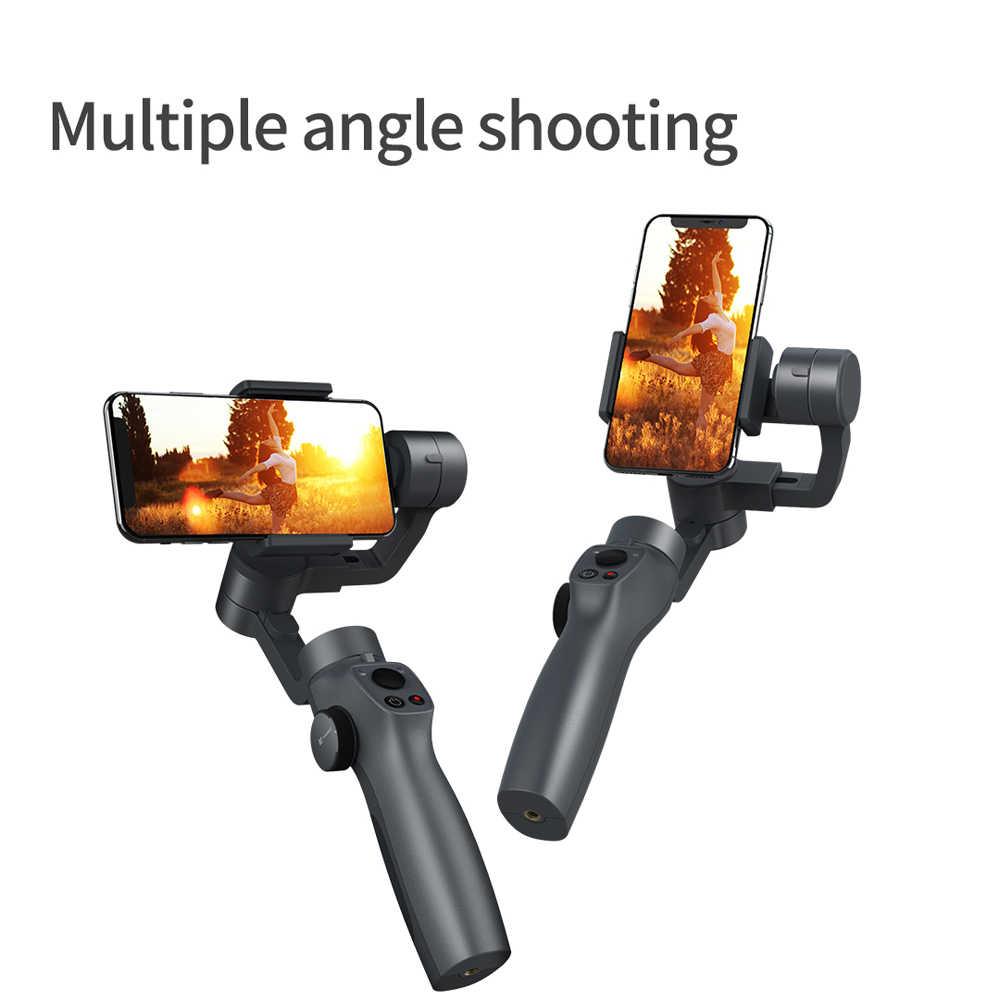 3 Trục Gimbal Ổn Định Điện Thoại Thông Minh Điện Thoại Di Động Cho Iphone GoPro 7 6 5 SJCAM EKEN Yi Camera Hành Động Với điều Khiển Từ Xa