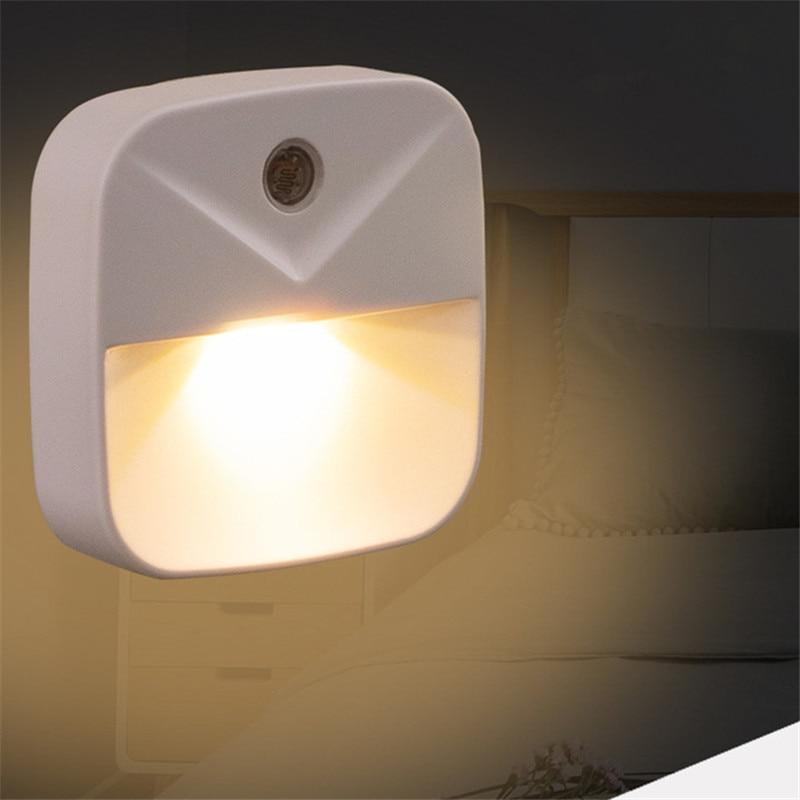 LED Night Light Mini Light Sensor Control 110V-220V EU US Plug Nightlight Lamp For Children Kids Living Room Bedroom Lighting