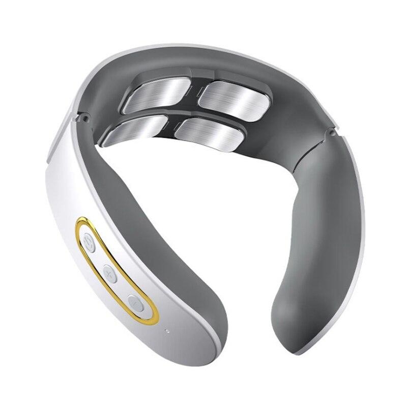 KLASVSA 3D Smart Electric Neck Shoulder Massager Pulse Cervical Vertebra Physiotherapy Massager Far Infrared Heating Pain Relief