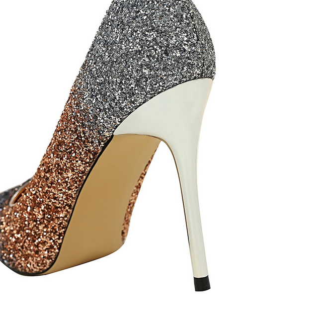 Luxury  Colorful Sparkly Sequin Pumps  6
