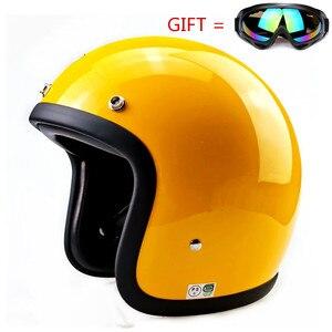 Image 4 - Glass Fiber Vintage Motorcycle Helmet TT&CO 500TX Retro Scooter Jet Open Face Small Shell TTCO Motorbike Riding Capacete Moto
