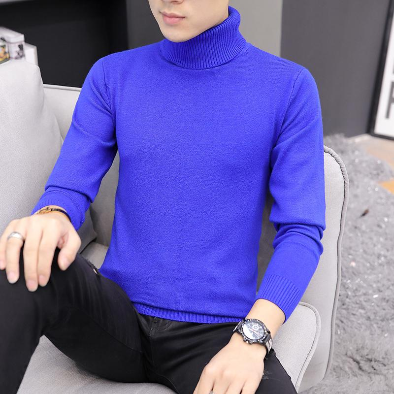 Winter High Neck Thick Warm Sweater Men New Turtleneck Brand Mens Sweaters Slim Fit Pullover Men Knitwear Male Double Collar