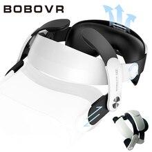 BOBOVR M2 조절 가능 Oculus Quest2 가상 현실 헬멧 헤드 스트랩 헤일로 스트랩 개선 플레이트 통기성 가죽 액세서리