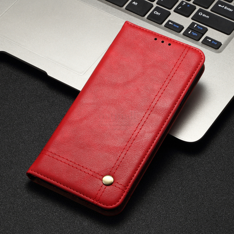 H2fe624d0df8548d1ae80799489990947V Luxury Retro Slim Leather Flip Cover For Xiaomi Redmi Note 8 / 8T / 8 Pro Case Wallet Card Stand Magnetic Book Cover Phone Case