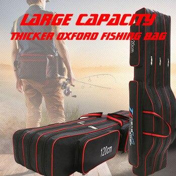 Oxford กระเป๋าตกปลา 120 ซม.2/3 ชั้นตกปลา Rod Belly กระเป๋า Reel Fishing Tackle พกพากระเป๋าเก็บกระเป๋า XA155G