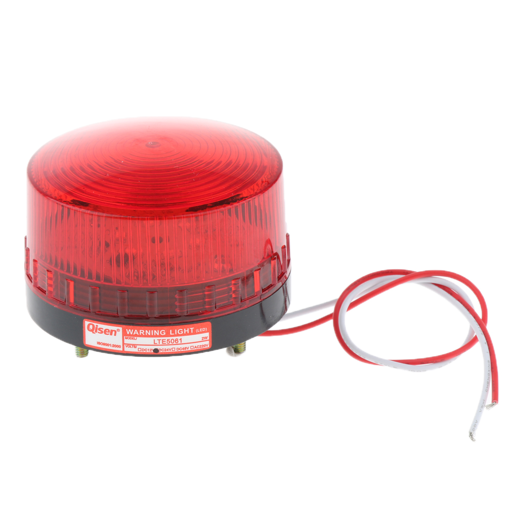 24V Flash Strobe / Always On Warning Light Round Signal Beacon Lamp Red