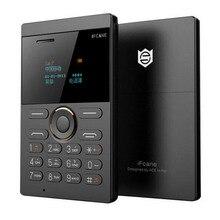 Ifcane E1 Ulocked мобильный телефон одна Sim ультра Кредитная карта студенческий мобильный телефон карманный маленький размер мини celulares