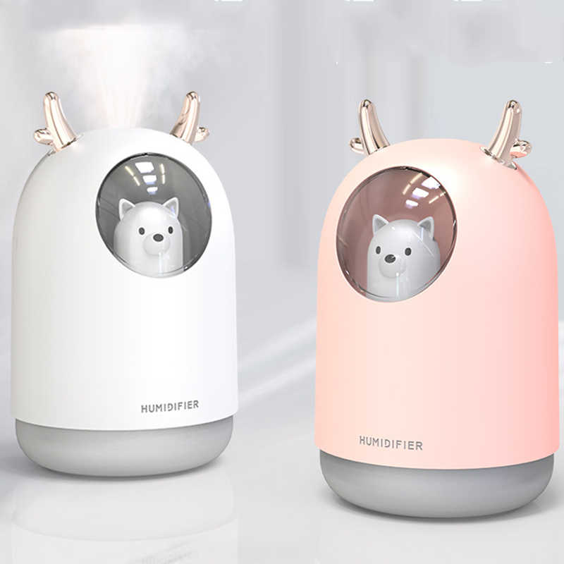 USB LED Ultrasonic Humidifier Cool Mist Maker Deer Aromatherapy Oil Air Diffuser
