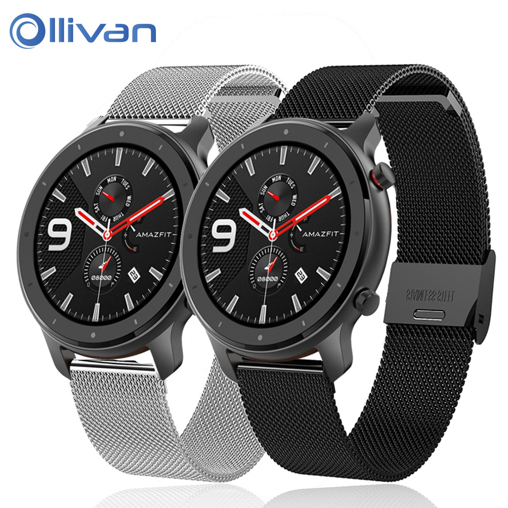 Milanese Stainless Watch Band Buckle Replacement Strap Wristband Watchband For Xiaomi Huami Amazfit GTR 42mm 47mm Metal Bracelet