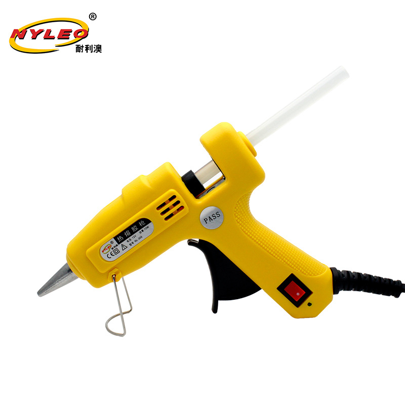 Car Mounted Head Hot Melt Glue Gun T-Model Airplane Block Glue Gun 12V Low Voltage Re Rong Jiao Qiang Movable DIY Small Tools