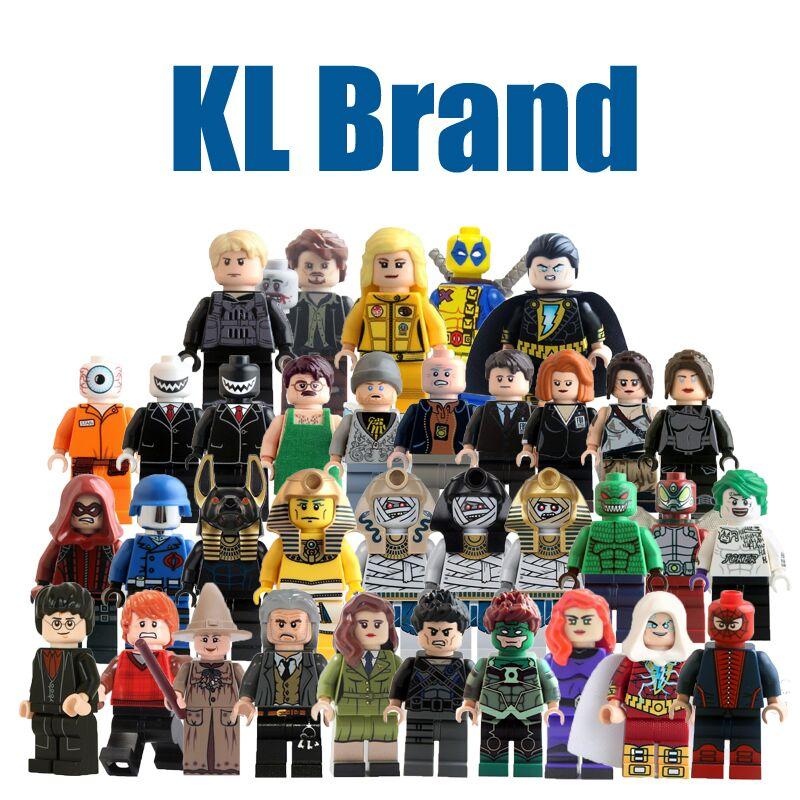 KL Single Sale Building Blocks Super Heroes Spiderman Peeta Kill Bill Vol.1 Uma Thurman The Bride Deadpool Figures Children Toys