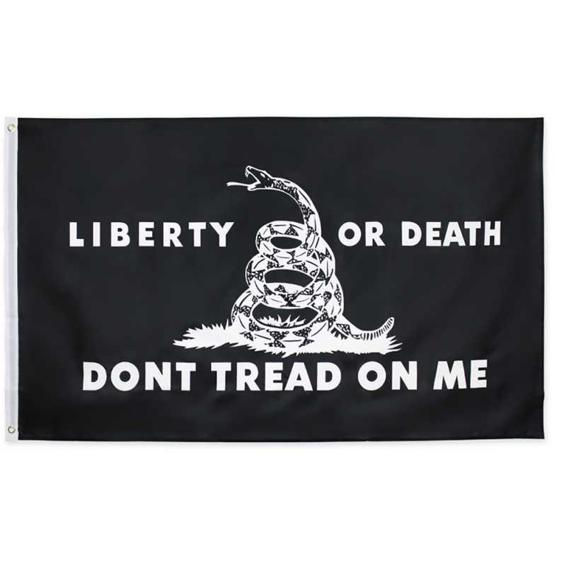 90*150 см не наносить на меня висячий флаг тускнеет устойчивые двойные Прошитые чайные вечерние флаги Gadsden флаг