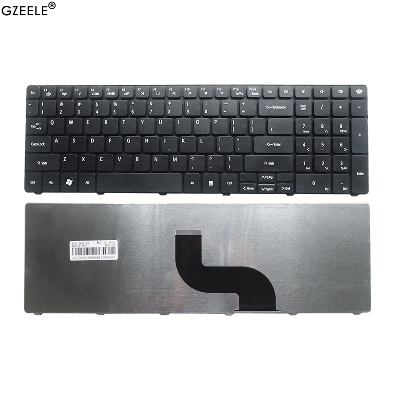 GZEELE NEW English US Laptop Keyboard For PACKARD BELL TK87 TM05 TM81 TM82 TM85 TM86 TM87 TM89 TM93 TM94 TM97 TM98 TM99 TM01