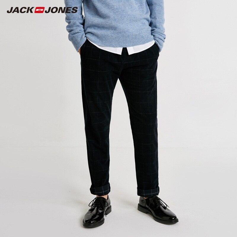 JackJones Men's Plaid Printed Smart Casual Pants 218414514