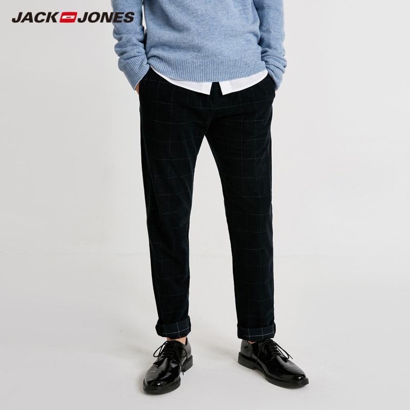 JackJones Men's Plaid Printed Smart Casual Pants Basic 218414514