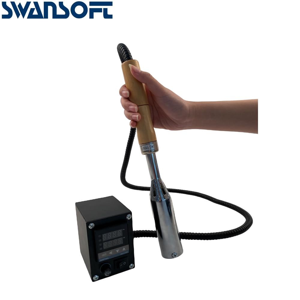 Przenośna maszyna do tłoczenia na gorąco instrukcja maszyna do brązowania skóry mosiądz mold logo brajlowskiej narzędzie skórzane narzędzia stolarskie 110 V/220 V