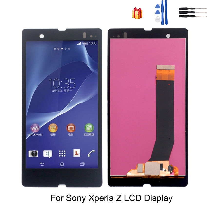For <font><b>Sony</b></font> <font><b>Xperia</b></font> <font><b>Z</b></font> L36H LCD Display <font><b>Glass</b></font> Panel Digitizer Assembly For <font><b>Sony</b></font> <font><b>Xperia</b></font> <font><b>Z</b></font> <font><b>C6603</b></font> C6602 Display <font><b>Screen</b></font> LCD Replacement image