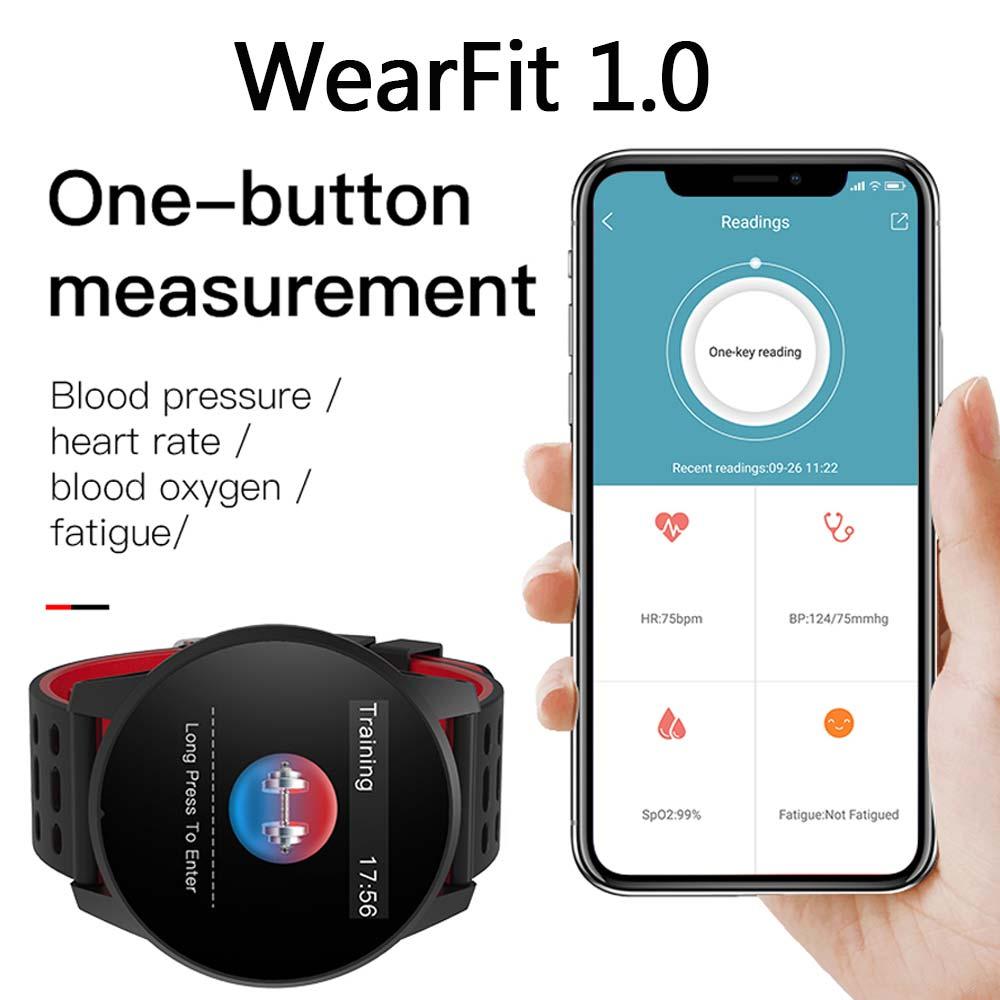 2019 New Smart Watch Men Blood Pressure Heart Rate Fitness Tracker Pedometer Man Sport Smartwatches For Android IOS Smart Watch in Smart Watches from Consumer Electronics