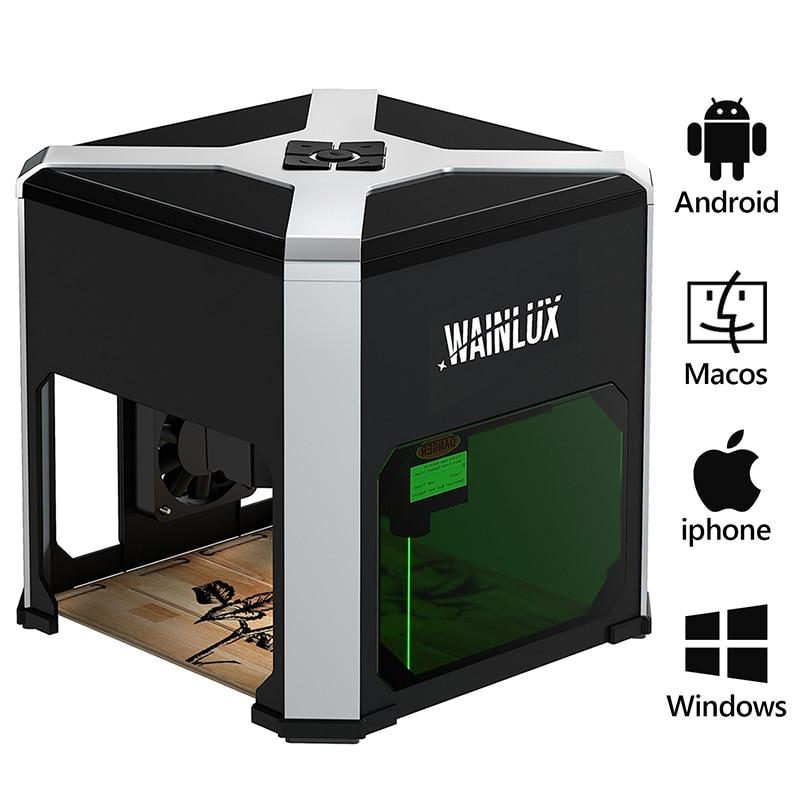 Гравировальный станок с ЧПУ K6, 3000 МВт, настольный лазерный мини-принтер, портативный лазерный гравер с Win, MAC и Wi-Fi соединением