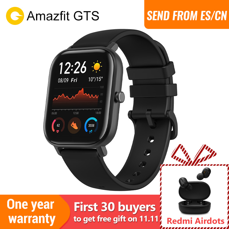 Pré venda Amazfit GTS versão Global relógio inteligente smartwatch GPS Running Sports Heart Rate 5ATM Pulseira À Prova D 'Água AMOLED Amazfit