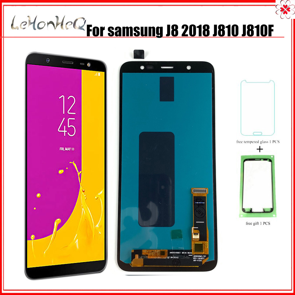 OLED <font><b>J8</b></font> <font><b>2018</b></font> J810 <font><b>LCD</b></font> For <font><b>Samsung</b></font> Galaxy <font><b>J8</b></font> <font><b>2018</b></font> J810 J810F J810Y J810G <font><b>LCD</b></font> Display Touch Screen Digitizer Assembly image